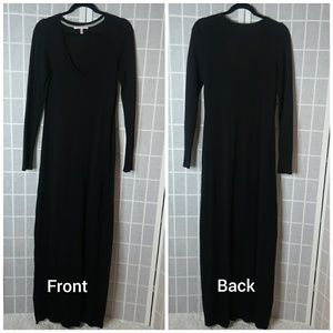 [Victoria Secret] Black sweater maxi Dress